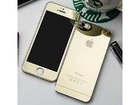 Защитное стекло CaseGuru зеркальное Front & Back для Apple iPhone 5, 5S Gold 0,33мм Logo OEM