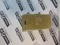 Чехол раскладной портмане для iphone5-5s золотой