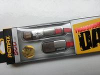 Кабель интерфейсный USB Remax 2в1, microUSB, 8pin Красный