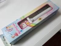 """Держатель телескопический монопод """"Hello Kitty"""" с кнопкой съемки через разъем гарнитуры розовый"""