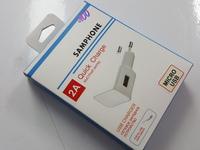 Сетевое зарядное устройство SAMPHONE Micro USB 2в1 2А + кабель