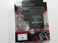 Сетевое зарядное устройство с 4 USB выходами 3.1А Черный Liberty Project