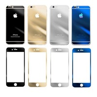 Защитное стекло CaseGuru зеркальное Front & Back для Apple iPhone 5, 5S Silver 0,33мм A OEM