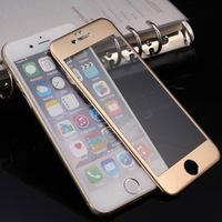 Защитное стекло алюминий+стекло для Iphone 6 Plus Gold