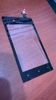 Сенсорное стекло (Тачскрин) Sony st23i miro черный