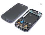 Дисплей (LCD) Samsung I9300 Galaxy S3 синий, в сборе с передней панелью и тачскрином БУ
