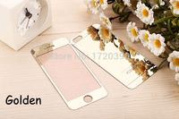 Защитное стекло CaseGuru зеркальное Front & Back для Apple iPhone 5, 5S Silver 0,33мм Logo OEM