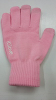 Теплые перчатки для сенсорных экранов iGlove розовые