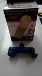 Автомобильный держатель для телефона на воздуховод синий Liberty Project