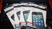 Защитная пленка для Apple iPhone 5/5c/5s прозрачная двойная Liberty Project