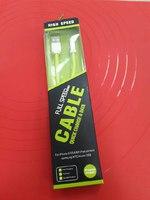"USB Дата-кабель ""Cable"" Apple 8 pin плоский мягкий силикон"