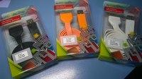 USB кабель Apple 30pin плоский широкий Оранжевый Liberty Project
