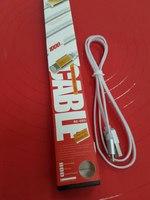 USB кабель для iPhone 5/iPad4/iPad mini 8pin белый Remax