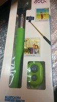 Держатель телескопический монопод с Bluetooth кнопкой съемки для телефонов Зеленый