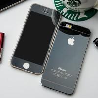 Защитное стекло CaseGuru зеркальное Front & Back для Apple iPhone 5, 5S Gray 0,33мм Logo OEM