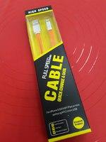 "USB Дата-кабель ""Cable"" Apple 8 pin плоский мягкий силикон 1 метр"
