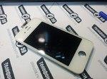 Дисплей LCD iPhone 4s с тачскрином (белый) БУ